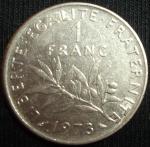 monedas de Europa - Francia -  1973 (Reverso)