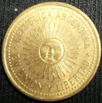 monedas de America - Argentina -  1992 (Anverso)