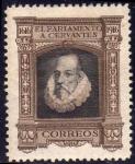 Sellos del Mundo : Europa : España : ESPAÑA 1916 288 Sello Nuevo III Centenario de la muerte de Cervantes Retrato de Cervantes FR-18