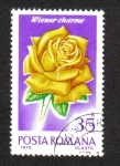 Stamps Romania -  Rosas