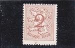 Stamps Belgium -  Cifra y león rampane