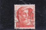 Stamps : Europe : Italy :  Obra de Miguel Angel