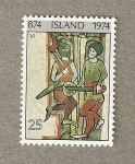 Stamps Europe - Iceland -  Gurreros