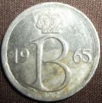 monedas de Europa - Bélgica -  1965 (Anverso)