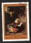 Sellos de Europa - Rusia -  Pintura de Rembrandt