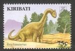 Sellos del Mundo : Oceania : Kiribati : Dinosaurio brachiosaurus