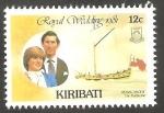 Stamps Oceania - Kiribati -  50 - Boda Real del Príncipe Carlos y Lady Diana Spencer