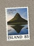 Stamps Europe - Iceland -  Montaña, Europa
