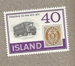 Stamps Iceland -  coche