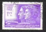 Stamps Chile -  San Martin and O'Higgins
