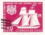 Sellos de America - Chile -  150 aniversario de la toma de  Valdivia por Lord Cochrane