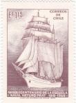 Stamps Chile -  150 aniversario escuela naval Arturo Prat