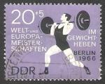 Sellos del Mundo : Europa : Alemania :  906 - Campeonato de Europa y mundial de pesas y halterofilia, en Berlin