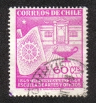 Sellos de America - Chile -  100 años de la escuela de artes y oficios