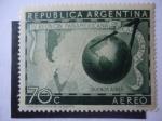 Stamps Argentina -  IV Reunión Panamericana de Cartografía 1948.