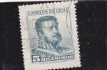 Stamps Chile -  M. Bulnes-presidente