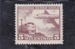 Stamps Chile -  tren y avión
