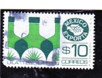 Stamps : America : Mexico :  tequila-Mexico exporta