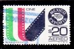 Sellos de America - México -  cine-Mexico exporta