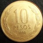 monedas de America - Chile -  1998 (Reverso)
