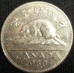 monedas de America - Canadá -  1980 (Reverso)