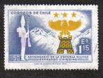 Sellos de America - Chile -  150 Aniv. Colegio Militar Bernardo O'Higgins