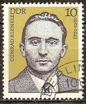 Sellos de Europa - Alemania -  Las personalidades socialistas.Conrad Blenkle 1901-1943 DDR.