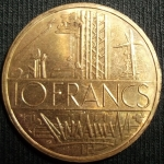 monedas de Europa - Francia -  1978 (Reverso)