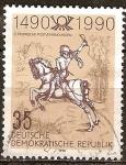 Sellos de Europa - Alemania -  500 años Rutas postales internacionales en europa (DDR).
