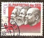 Sellos de Europa - Alemania -  XI.Congreso del Partido Socialista Unificado de Alemania (SED)DDR.