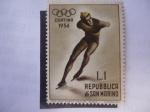 Stamps Europe - San Marino -  Olímpiadas de Invierno-Cortina Ampezzo - 1956- Repubblica Di San Marino