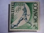 Stamps Monaco -  Helsinki- 1952 -Olimpiadas de Verano (Yvert 386/91)