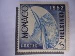 Stamps : Europe : Monaco :  Helsinki- 1952 -Olimpiadas de Verano (Yvert 386/91)