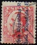 Sellos de Europa - España -  ESPAÑA 1931 598 Sello Alfonso XIII 25c. Sobrecargado Usado