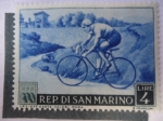 Stamps San Marino -  Olimpiadas de Cortina de ampezzo.