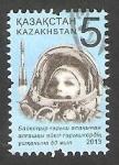 Sellos del Mundo : Asia : Kazajistán : Valentina Tereshkova, 50 anivº del primer vuelo al espacio de una mujer