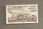 Stamps of the world : Mexico :  Primer correo aéreo