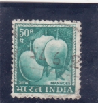 Sellos de Asia - India -  fruta- mango