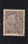 Sellos de Asia - India -  mujer guerrera