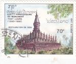 Stamps Laos -  templo budista That Luang