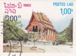 Stamps Laos -  templo Wat Dong Mieng