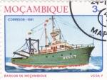 Sellos de Africa - Mozambique -  barco de mozambique- Vega7
