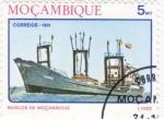 Sellos de Africa - Mozambique -  barco de mozambique- Linde