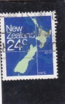 Sellos del Mundo : Oceania : Nueva_Zelanda :  mapa de Nueva Zelanda