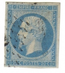 Stamps : Europe : France :  Napoleón III. Segundo Imperio (1853-1860)