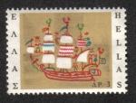 Sellos de Europa - Grecia -  Nave en el bordado