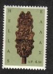 Sellos de Europa - Grecia -  Rueca de madera con los Santos de Jorge y Bárbara