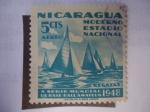 Sellos de America - Nicaragua -  X Serie Mundial de Base-Ball Amateur 1948 - Moderno Estadio Nacional-Regatas.