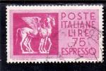 Stamps Italy -  caballo alado