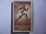 Stamps Spain -  Sahara Español - Pro Infancia 1954.